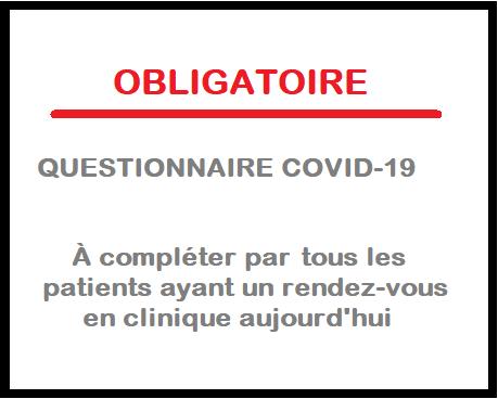 Questionnaire COVID